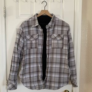 O'Neill reversible flannel/corduroy button up